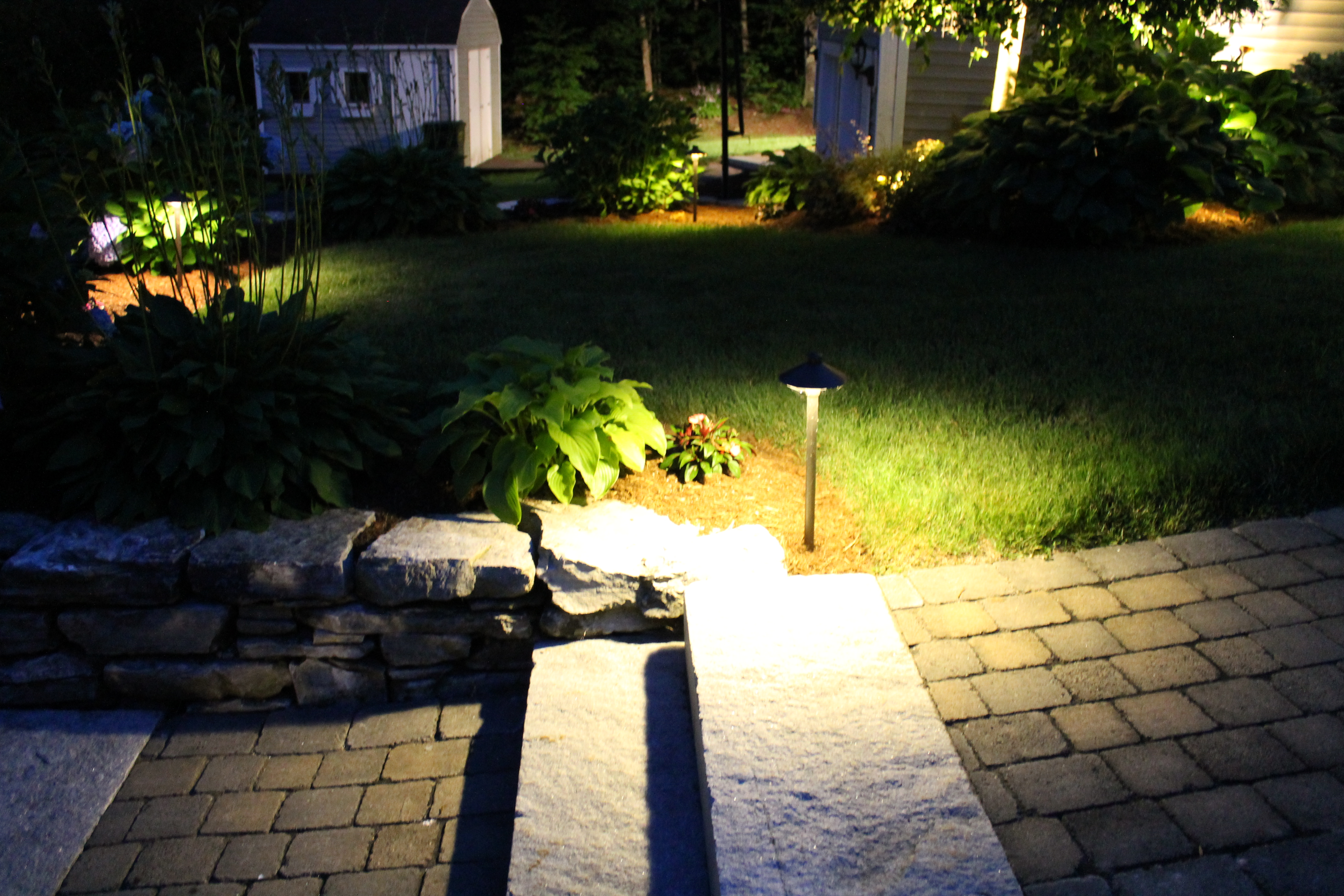 designs lighting homebnc best pathway brick backyard and lights for ideas simple solar